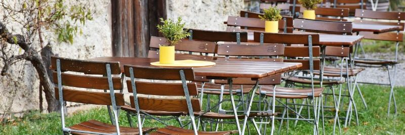 outside chairs and tables for eating